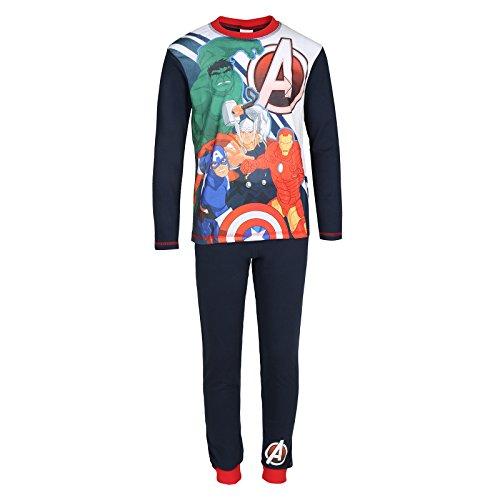 Marvel Avengers Hulk Iron Man Thor Official Gift Kids Boys Pajamas Black 4-5 Yrs