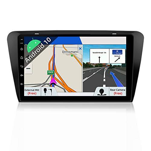 JOYX Android 10 Autoradio Passt für Skoda Octavia 2014-2018 - GPS 2 Din - Rückfahrkamera Canbus KOSTENLOS - 2G+32G - 10.1 Zoll - Unterstützen DAB Lenkradsteuerung 4G WiFi BT5.0 Mirrorlink Google USB