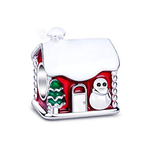 Gnoce Charm de Maison de Noël en Argent Sterling 925'Maison...