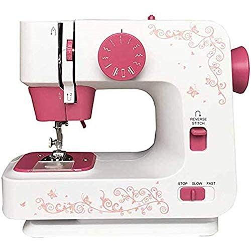 Mini Sewing Machine for Adults, Portable Crafting Mending Machine, Double Thread Sewing, 2 Speed, 12 Stitches Selection, Built-in Storage Box