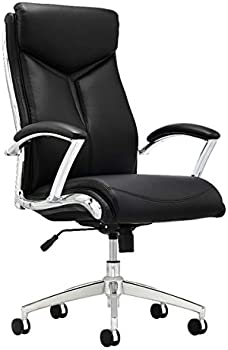 Realspace Modern Verismo Bonded Leather High-Back Executive Chair
