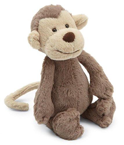 Jellycat Bashful Monkey Stuffed Animal, Small, 7 inches