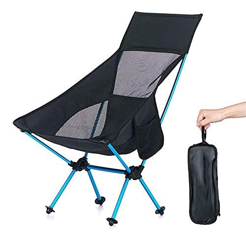 FLZXSQC Silla plegable duradera ligera, silla de camping portátil, silla de viaje plegable de aluminio que acampa