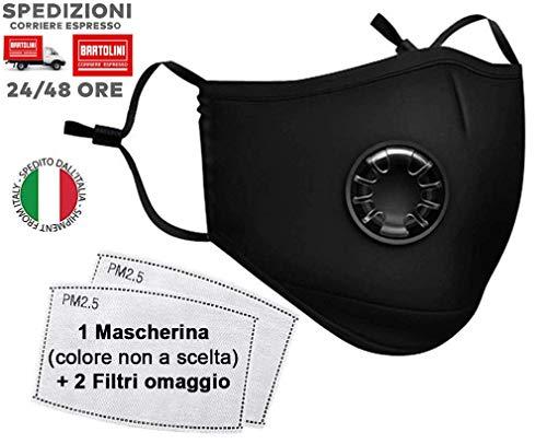 VENEZIANO Mascherine protettive da Ciclismo con Filtro, Respiratore per Maschera Antipolvere, Mascherina di Protezione, Mascherina Protettiva per Equitazione, Anti inquinamento