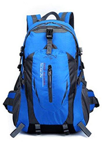 Hollwald Sacs à Dos 40L Sacs de Toile Homme Etudiante Alpinistes Loisir à L'extérieur Voyage Sorties Personne Modèle Nouvelle Voyage Durable (bleu)