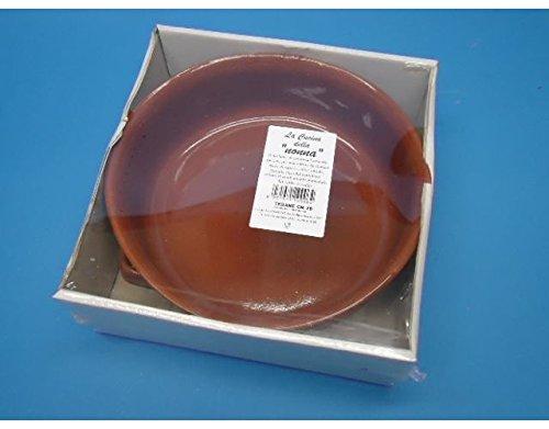 Teglia Tegame da forno In Terracotta rotondo con manici diam 26 cm