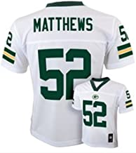 Outerstuff Clay Matthews Green Bay Packers #52 NFL Youth Mid-Tier White Jersey