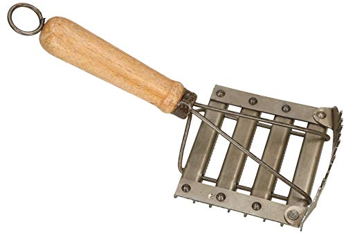 KOTARBAU® Metallstriegel mit Mähnenkamm 120 x 100 mm Pferdestriegel Fellentferner Fellkratzer für Zuchttiere Pferde Rinder