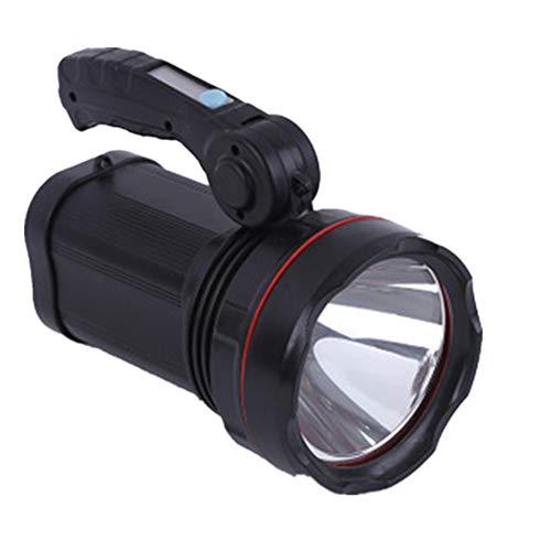 Super Bright Torch Searchlight Handheld Portable LED Spotlight USB Rechargeable lampe de poche pour l'exploitation minière,la randonnée, la pêche Lampe de poche multifonction Outdoor Long Shots Lamp