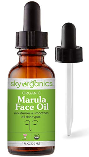 Organic Marula Oil by Sky Organics (1 oz) Cold-pressed USDA Organic 100% Pure Unrefined Marula Oil for Skin and Hair Natural Marula Face Oil Moisturizing Beauty Oil for All Skin Types
