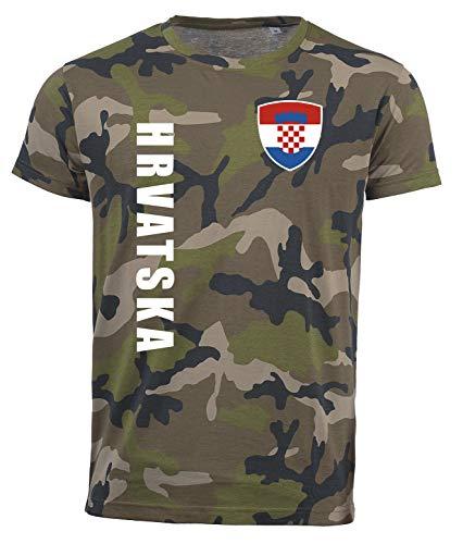 aprom Kroatien Camouflage T-Shirt - Trikot Army Look WM World Cup Hrvatska SPA (S)