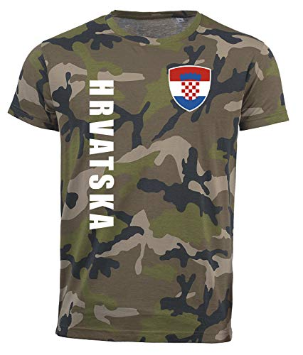 aprom Kroatien Camouflage T-Shirt - Trikot Army Look WM World Cup Hrvatska SPA (XL)