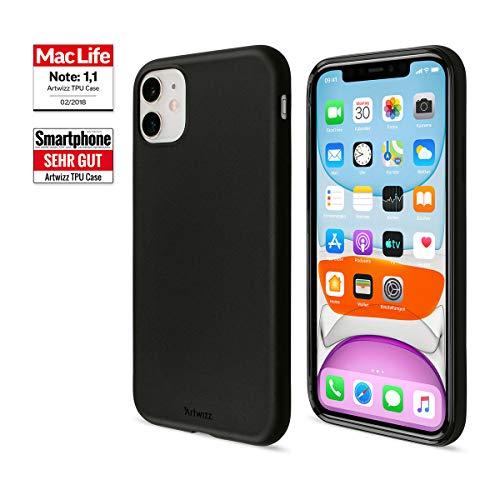 Artwizz TPU Case Handyhülle designed für [iPhone 11] - Schlanke Schutzhülle mit matter Rückseite & schwarz-glänzendem Rahmen - Black