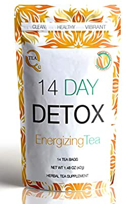 14 Day Detox Tea from Qutea with Ginger & Papaya to Boost Your Natural Teatox Cleanse - Taste The Fusion of Green Tea, Rooibos and Oolong. Delicious! from Queensland Quintessentials