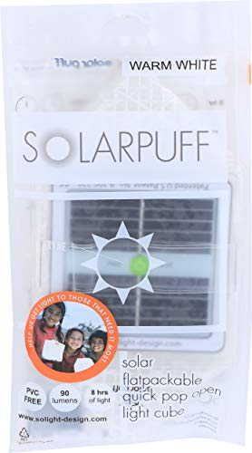 SolightDesign Solar Puff Plegable – Lámpara Solar