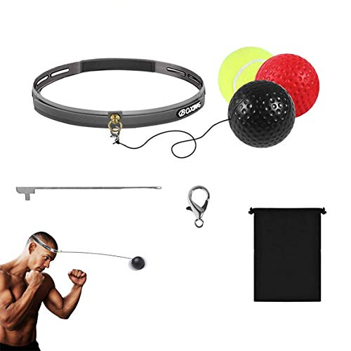 Reflexball, Boxball für Boxtraining, Kampfballboxen, Fitnessboxball, geeignet für Erwachsene und Kinder für Reflextraining, Timing, Genauigkeit und Auge-Hand-Koordination
