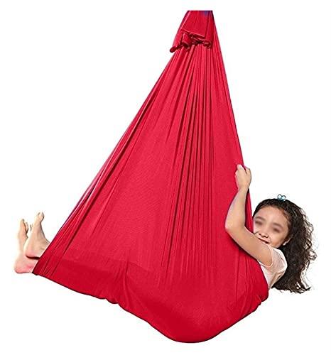 SHUHANG Hamaca de abrazo, ideal para autismo, hiperactividad, trastorno de procesamiento sensorial, efecto calmante en niños con necesidades sensoriales (color: rojo, tamaño: 600 x 280 cm)