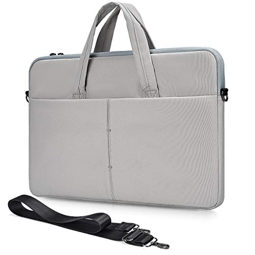 17.3 Inch Laptop Shoulder Case Bag for Dell Inspiron 17 3000 7000/G3, Lenovo IdeaPad 330 L340 17.3', Acer Aspire 7 17.3/ Aspire E 17, HP Envy 17 17t/ Pavilion 17 Messenger Case(Light Grey)