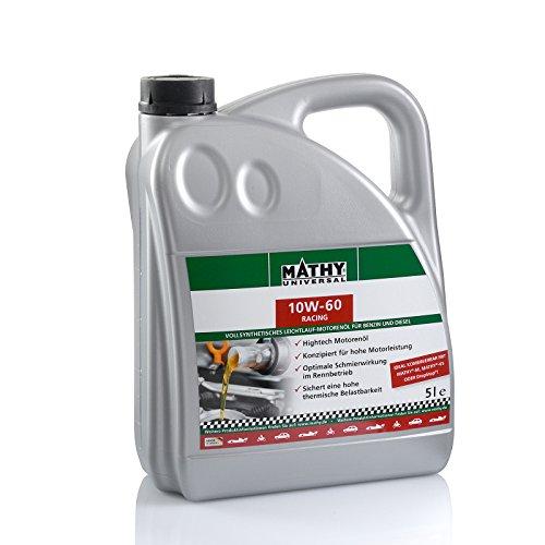 MATHY SAE 10W-60 Racing 5 Liter Motoröl