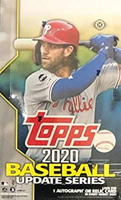 2020 Topps Update Baseball Hobby Box (24Packs/14 Cards 1 Silver Pack: 1 Auto or Mem)
