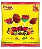 Vero Mix Banda Fuego Assorted Flavors Lollipop Box