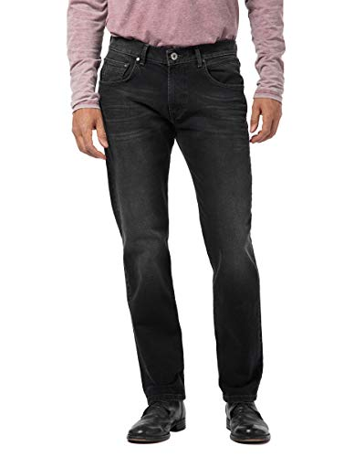 Pioneer Herren River Hand Crafted Straight Jeans, Schwarz (Black Used with Buffies 114), W38/L32 (Herstellergröße: 3832)