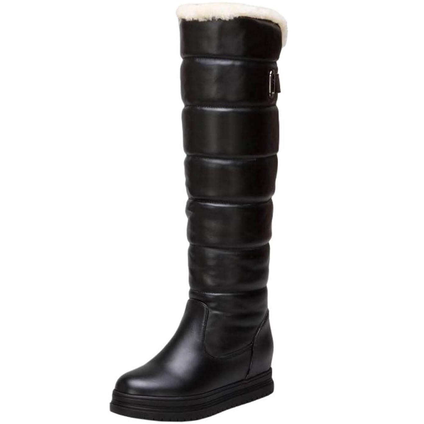 反動見物人コンクリート[Unm] レディーズ かかと 長いです ブーツ 引き上げる