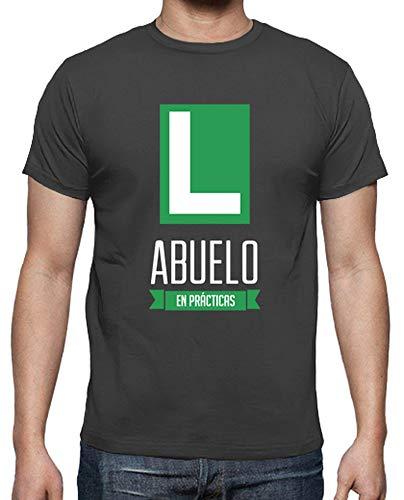 latostadora - Camiseta Abuelo en Practicas para Hombre Gris ratón L
