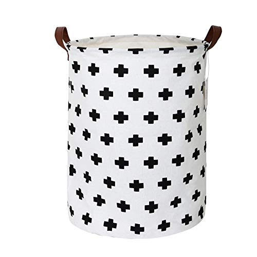 Zonyon Collapsible Laundry Hamper, 15.7'' Jumbo Large Dirty Clothes Laundry Storage Basket for Kids,Boys,Girls,Toys,Closet,College Dorm,Bathroom,White