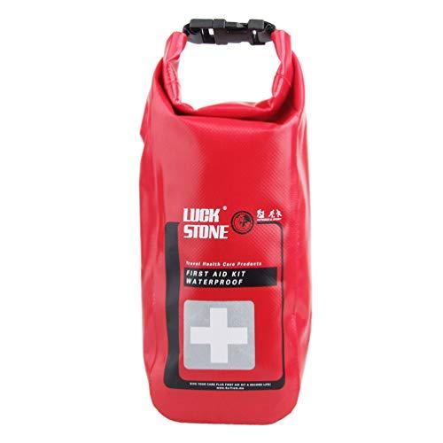 Artibetter EHBO-Tas Waterdicht Mini Noodoverlevingspakket Voor Reizen Buiten Kamperen Wandelen (Rood)