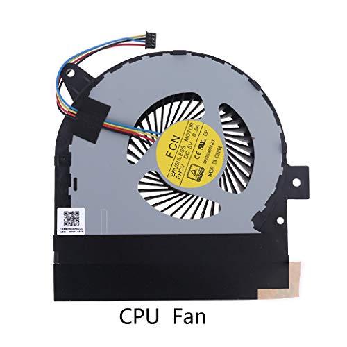 BIlinli Ersatz des Kühlers für CPU-GPU-Lüfter für ROG G752V G752VY G752VY-RH71 GFX72V GFX72VY GTX980M Laptop-Notebook-Zubehör Effiziente Wärmeableitung Geräuscharm