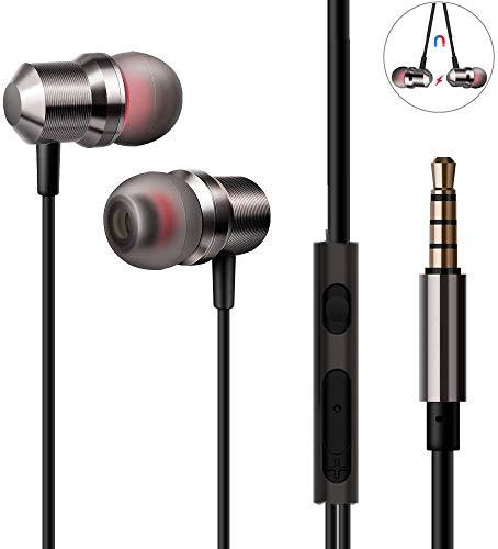 Auriculares con Cable, DEAROPE Auriculares in Ear Magnéticos con Micrófono Sonido Estéreo para Samsung Galaxy, Huawei, XiaoMi, PC, MP3/MP4 y Todos los Dispositivo de Interfaz de 3,5mm (Tipo 1)