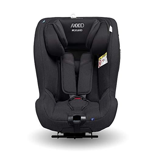 AXKID MODUKID SEAT Silla de Coche Grupo 0 y 1, Asiento de Automóvil para Niños de 0-18 Kg, Sillita para Coche, Silla de Coche de Bebé de 0 a 4 Años, Silla para 61-105 Cm (Negro)