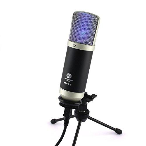 MCU-01-c USB Studio Mikrofon Rap, Homerecording, Hiphop für Window & MAC Gesang Hyper-Nierencharakteristik Kondensatormikrofon Frequenzgang 30-20000Hz, Home Office, Videokonferenz, online lernen, Unterricht, Streaming
