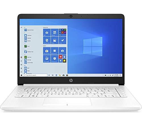 HP 14-cf2507sa Laptop, Intel Pentium Gold 6405U (2.40GHz), 4GB, 128GB, Windows 10 Home, White