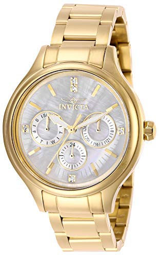 Invicta Women's Angel Quartz Watch with Stainless Steel Strap, Gold, 16 (Model: 28654)