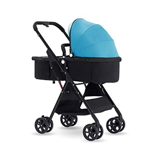 TXTC Inklapbare kinderwagen, compact, inklapbaar, met 5 punten, hoge opbergruimte voor reizen, winkelen, wandeltochten
