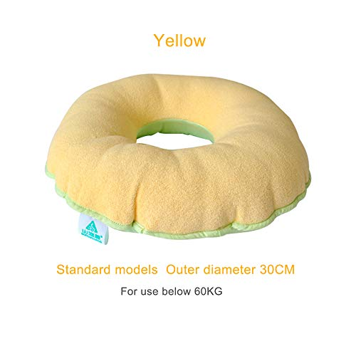 Productos de cuidado de ancianos Dolor de escaras Mat Arandelas respirables huecos redondas caderas Butt Cojines pacientes anti-presión,Yellow,Standard
