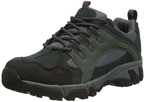 Hi-Tec Auckland II WP Womens Walking Shoe, Charcoal/Steel Grey/Grape Wine,...