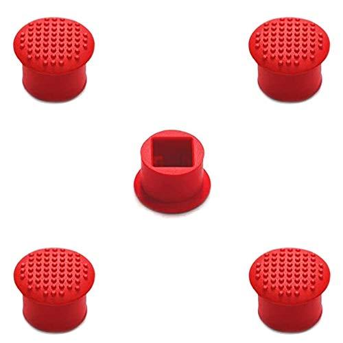 MMOBIEL 5 Pezzi Rubber TrackPoint Tastiera in Gomma Red cap con Cupola Morbida e puntatore per Il Portatile Lenovo ThinkPad X/T/E/S/L/P/Yoga Series