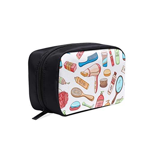 Sacs à la mode pour femmes dessin animé mignon coloré articles de vie sac de jour de femme sac de maquillage de dent voyage sac de salle de bains sacs cosmétiques sacs multifonctions hommes sacs de