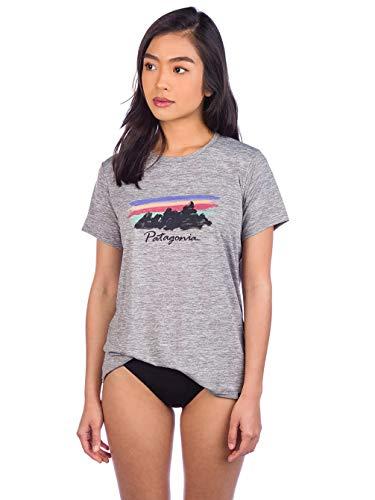 Patagonia W's Cap Cool Graphic T-Shirt à Manches Courtes pour Femme XS Gris/Plume