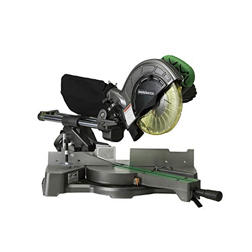 Metabo HPT C8FSE 8-1/2-Inch Sliding Compound Miter Saw, Double Bevel, 9.5 Amp Motor, Adjustable Pivot Fence, Linear Ball Bearing Slide System, 5 Year Warranty