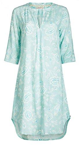 PiP Studio Damen 3/4 Arm Drew Indian Rose Nachtkleid Nachthemd floraler All - Over Druck, Farbe:blau, Grösse:S - 36