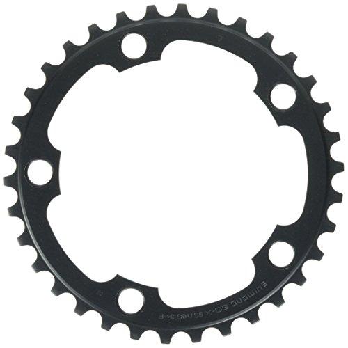 Shimano Ultegra FC-6750G, Corona Singola, 2x10 Velocità, 34D, Nero