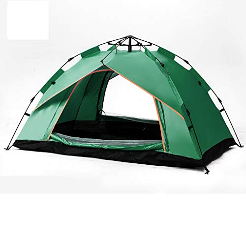 LZL Tents Camping Tent for 4 Person 2 Door&4 Mesh Windows Portable Instant Tent Automatic Tent for Family Hiking Outdoor Outdoor Tent (Color : Green)