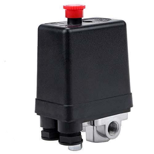 WiMas 4-Loch Druckschalter Kompressor, AC 220V 20A Druckschalter-Steuerventil Luftkompressor für Schnellen Druckabbau 90-120PSI