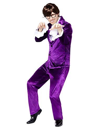 Austin Powers Groove Purple Suit Costume for Men