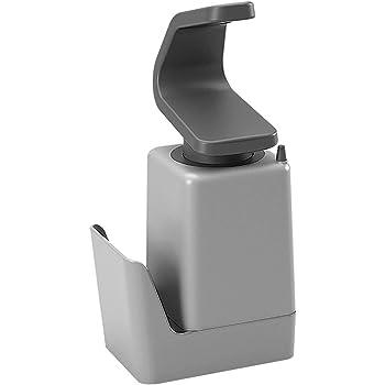 Metaltex Soap Tex-Dispensador de Jabón para Fregadero, Gris, 11x8x22 cm