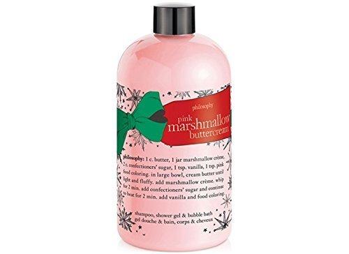 Philosophy Pink Marshmallow Buttercream - 3-in-1 Shampoo, Shower Gel, Bubble Bath - 16 fl oz